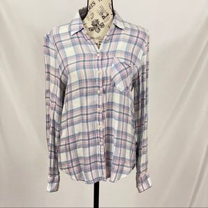 Aeropostale Pink and White Flannel